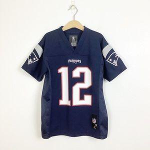 NFL New England Patriots Tom Brady 12 Jersey Small